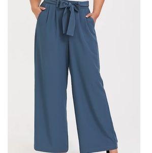 Torrid Blue Crepe Wide Leg Pant